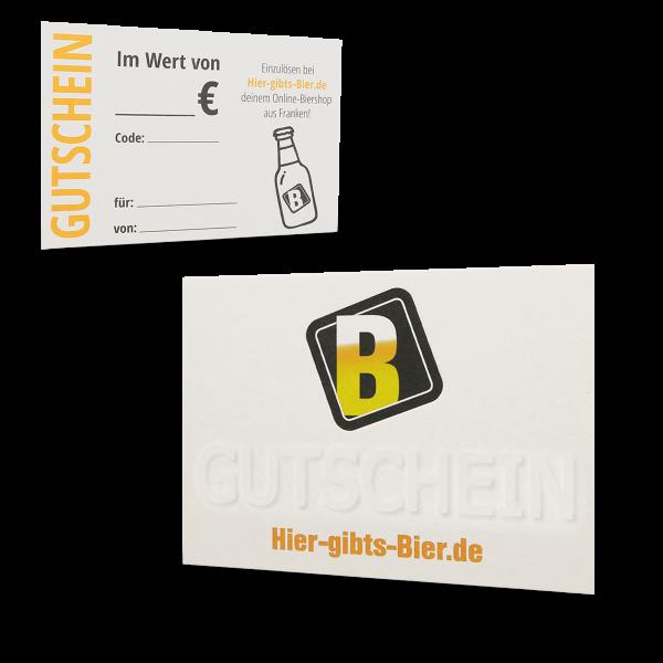 Bier-Gutschein 15 EUR