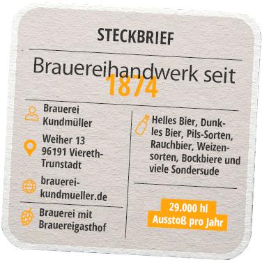 Steckbrief Brauerei Kundmüller