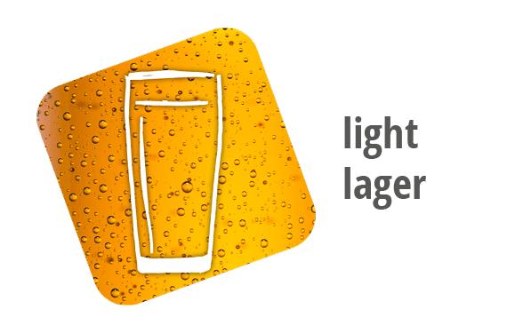 light lager beer