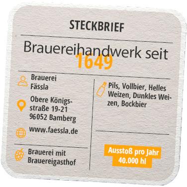 Steckbrief Brauerei Fässla